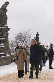 Tourists on Charles Bridge