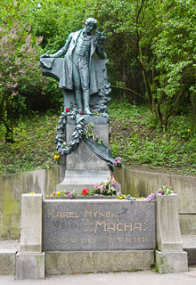 Karel Hynek Mácha Statue at Petřín on May 1st