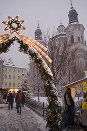 Old Town Square with Snow